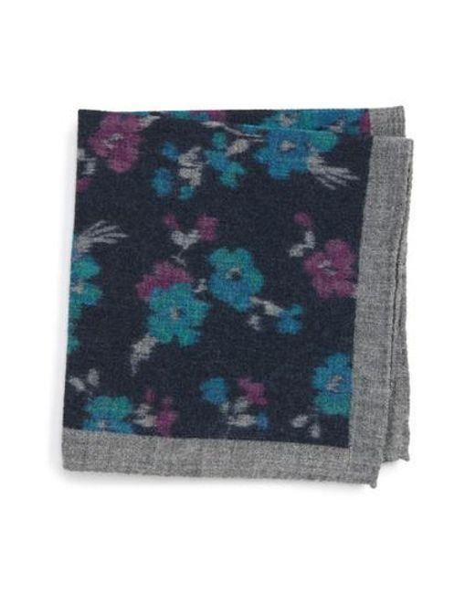 Ted Baker | Blue Floral Wool Pocket Square for Men | Lyst