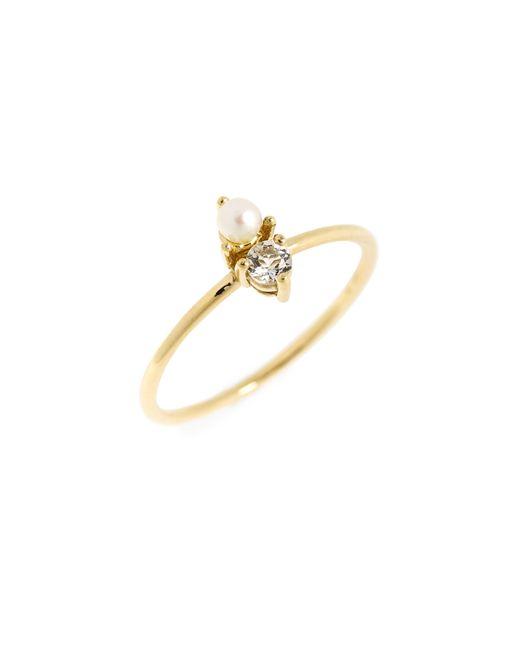 Bony Levy - Metallic Birthstone & Diamond Stacking Ring (nordstrom Exclusive) - Lyst