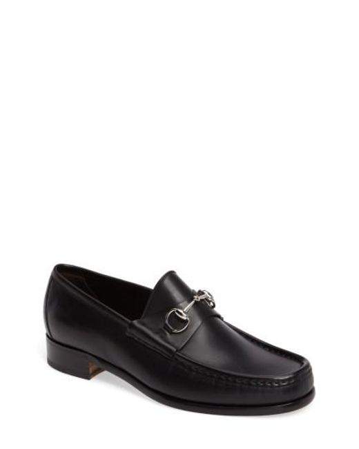 Gucci - Black Classic Leather Moccasin for Men - Lyst