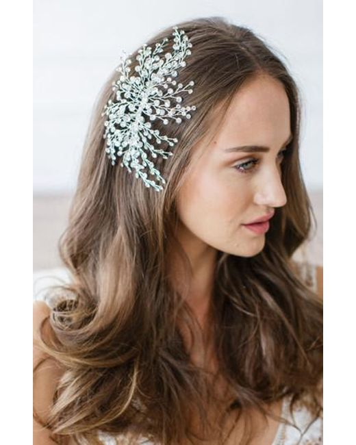 Brides & Hairpins - Multicolor 'veda' Crystal Embellished Hair Comb - Lyst
