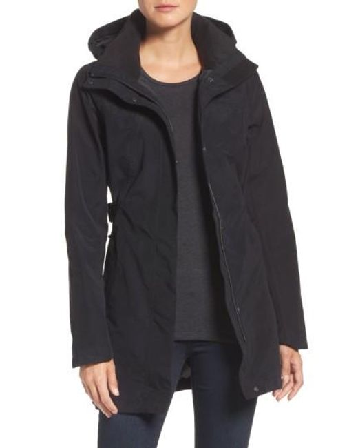 The North Face | Black Laney Trench Raincoat | Lyst
