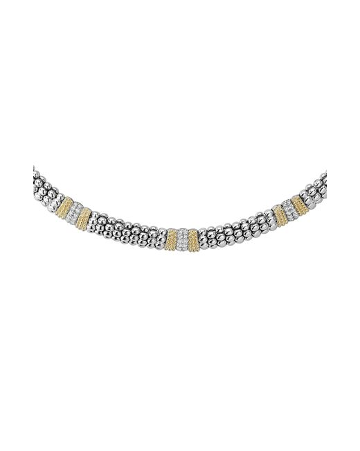 Lagos - Metallic Diamond Lux Triple Station Collar Necklace - Lyst