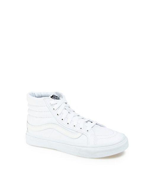 Vans | White Sk8- Hi Slim Zip | Lyst