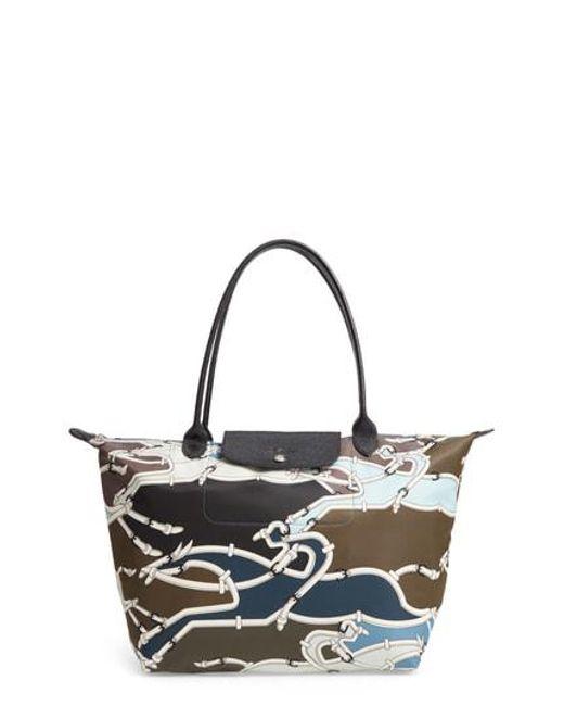Longchamp - Multicolor Large Galop Shoulder Tote - - Lyst