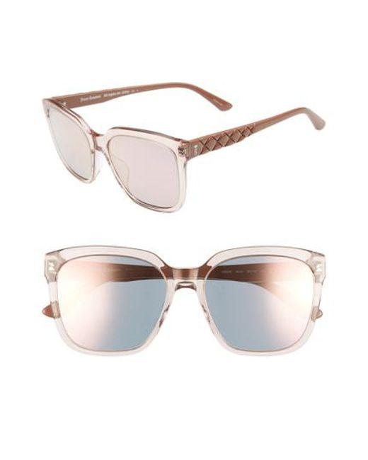bb2047781d Lyst - Juicy Couture Core 55mm Square Sunglasses - Dark Havana in Brown
