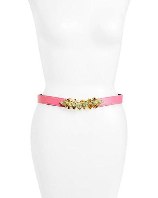 Raina   Pink Venice Leather Belt   Lyst