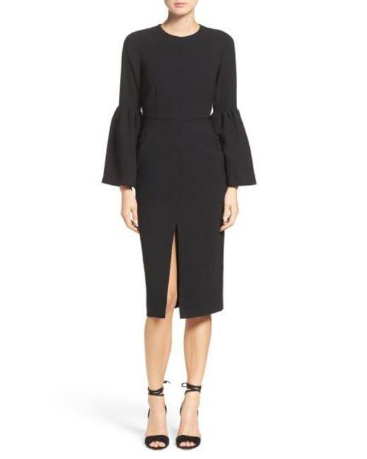 JILL Jill Stuart | Black Bell Sleeve Dress | Lyst