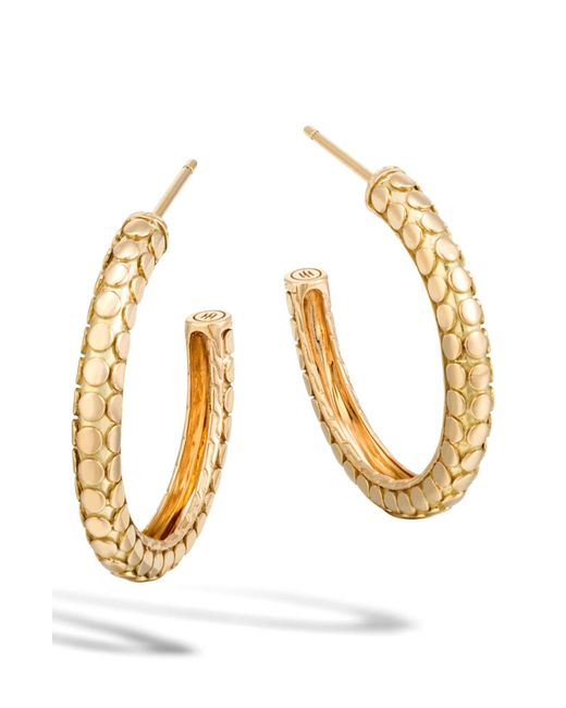 John Hardy - Metallic Dot Collection Hoop Earrings - Lyst