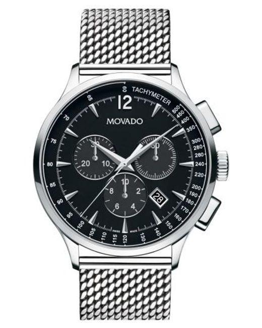 Movado   Metallic 'circa' Chronograph Mesh Strap Watch for Men   Lyst