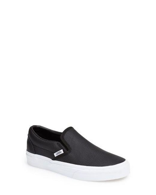 Vans | Black 'Classic' Perforated Slip-On Sneaker  | Lyst
