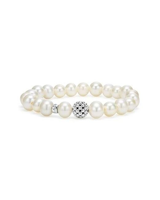 Lagos | White Bead Stretch Bracelet | Lyst