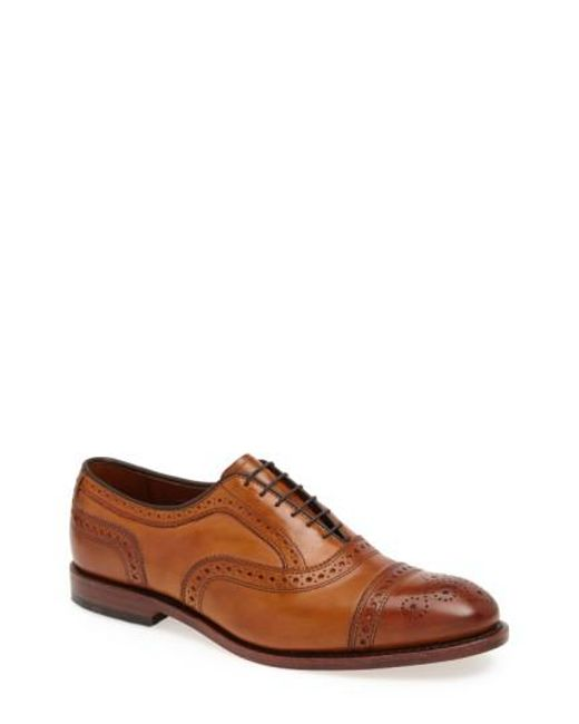 Allen Edmonds | Brown 'strand' Cap Toe Oxford for Men | Lyst