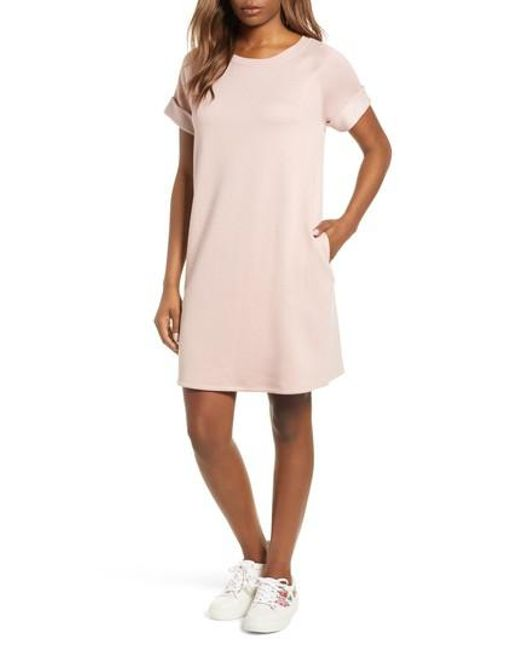 Caslon - Pink Caslon French Terry Shift Dress - Lyst