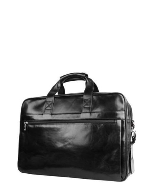 Bosca - Black Double Compartment Leather Briefcase for Men - Lyst