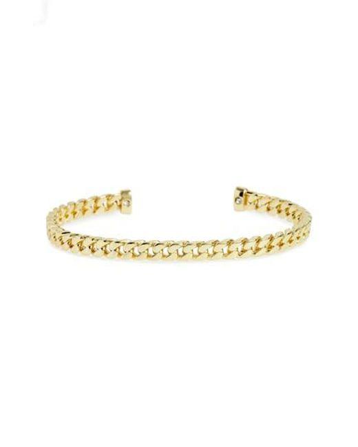 Shashi - Metallic Cuff Bracelet - Lyst
