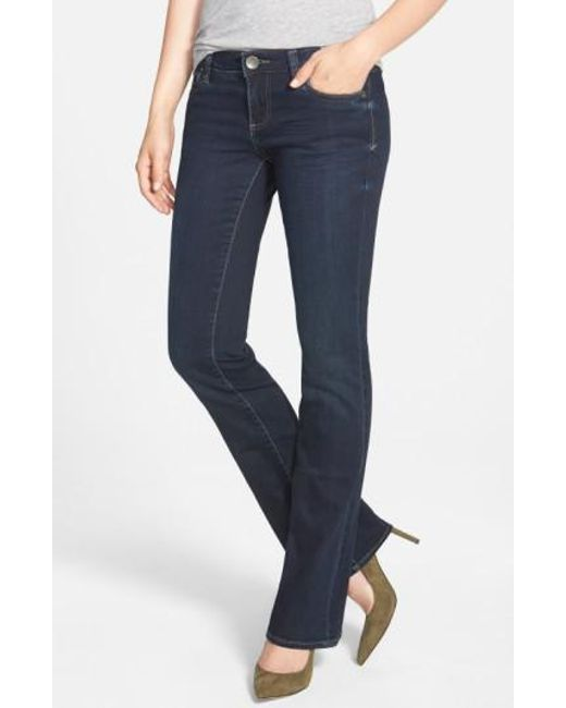 Kut From The Kloth - Blue 'natalie' Stretch Bootcut Jeans (beneficial) - Lyst
