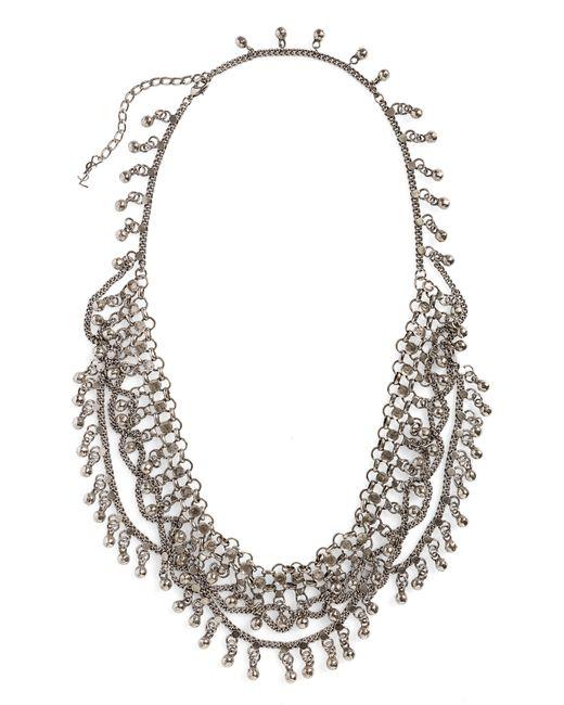 Saint Laurent - Metallic Bell Bib Necklace - Lyst