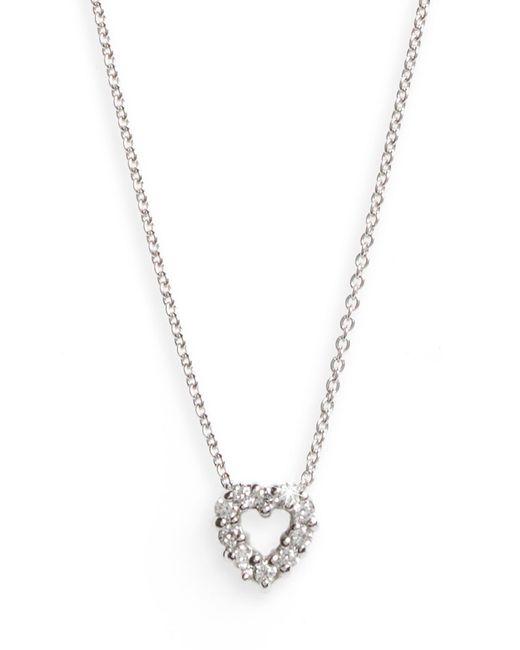 Roberto Coin Metallic 'tiny Treasures' Diamond Heart Pendant Necklace