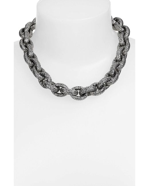 Konstantino - Metallic 'classics' Link Collar Necklace - Lyst