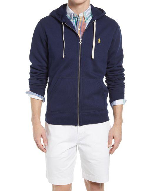 Ralph Lauren Blue Cotton-blend-fleece Hoodie for men