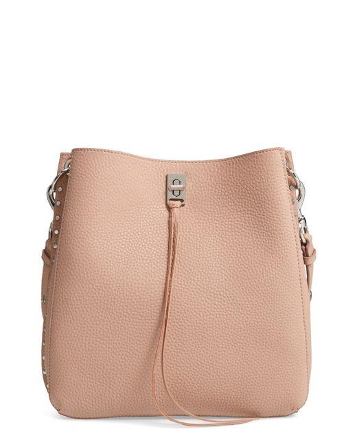 a3d088d09b06 Lyst - Rebecca Minkoff Darren Deerskin Leather Shoulder Bag in Natural