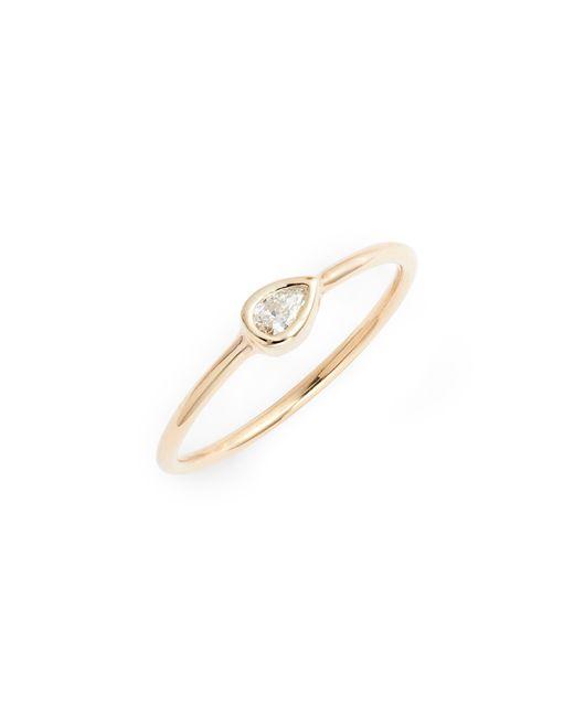 Zoe Chicco Metallic Diamond Bezel Ring