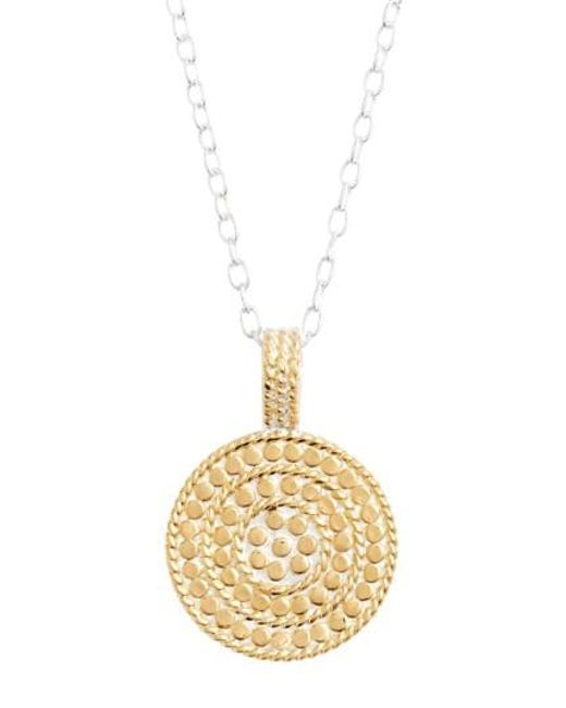 Anna Beck | Metallic Jewelry That Makes A Difference Circle Of Life Pendant Necklace | Lyst