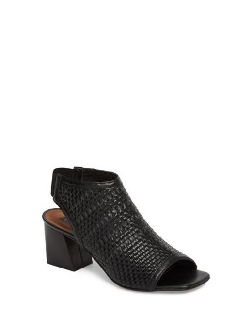 Topshop Women's Nifty Woven Flared Heel Sandal Oz0phtTTf6