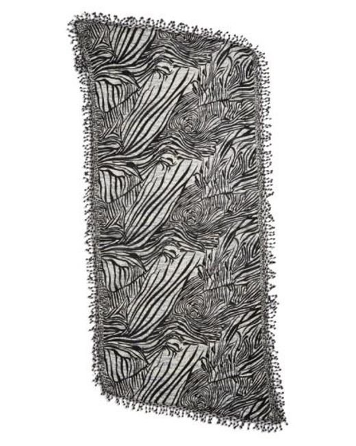 La Fiorentina   Black Animal Print Wool Scarf   Lyst