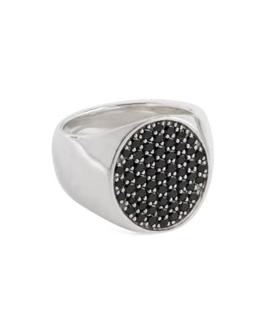 Tom Wood - Black Spinel Oval Pinkie Ring - Lyst