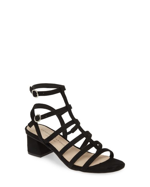 Chinese Laundry Black Monroe Strappy Cage Sandal