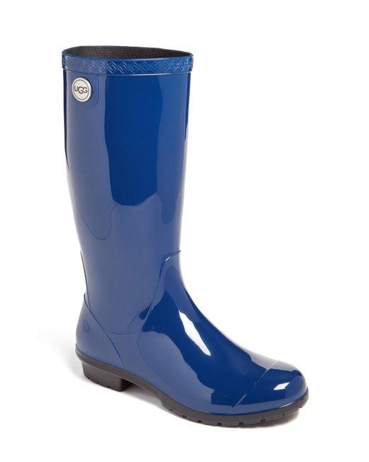 Ugg - Blue Shaye Rubber Rainboots - Lyst