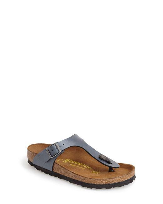 Birkenstock Metallic Gizeh Birko-Flor Sandals