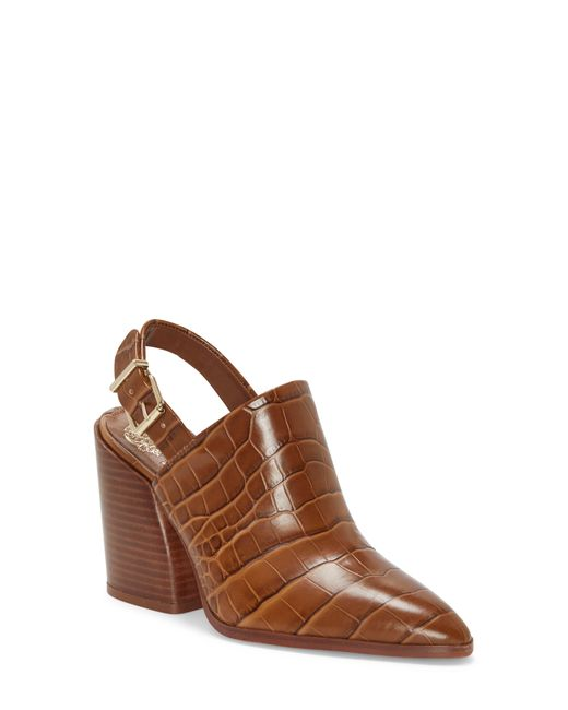 Vince Camuto Brown Chemine Slingback Bootie