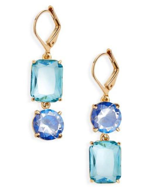 Kate Spade | Blue Kate Spade Shine On Mismatched Drop Earrings | Lyst