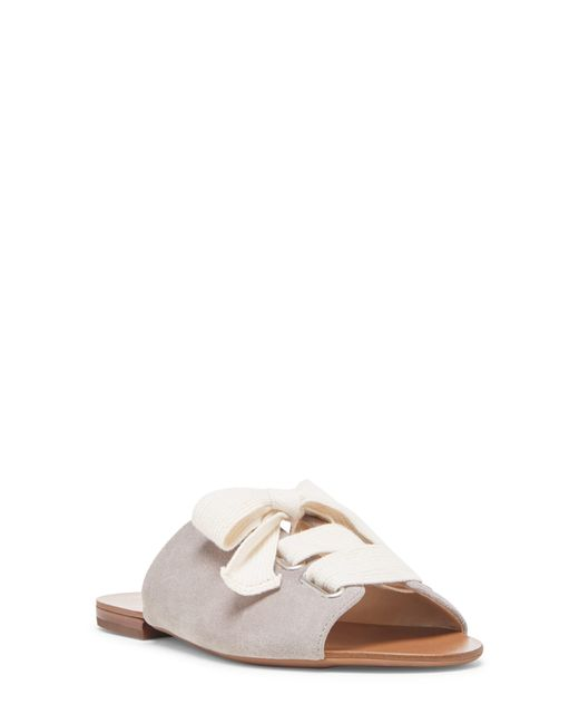 Sole Society Natural Marinn Lace-up Slide Sandal