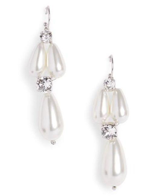 Simone Rocha - White Short Imitation Pearl Drop Earrings - Lyst