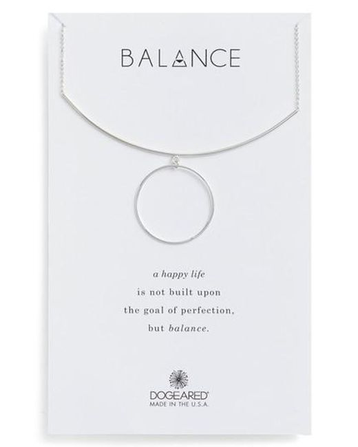Dogeared | Metallic Balance Bar & Ring Pendant Necklace | Lyst