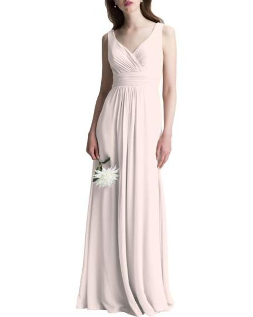 Levkoff - Pink # V-neck Chiffon A-line Gown - Lyst