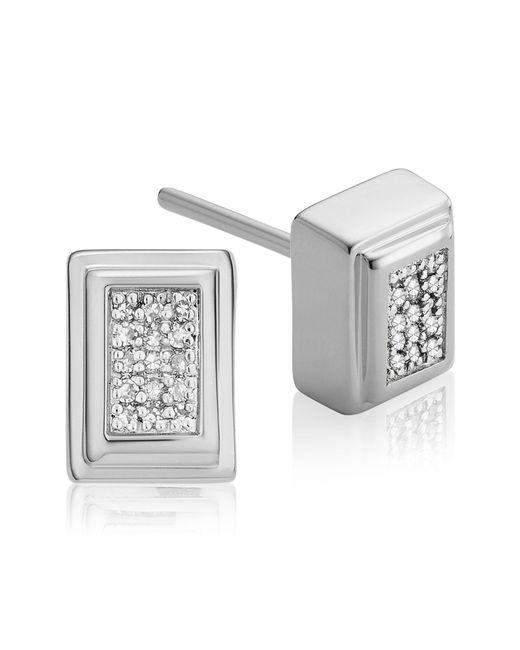 Monica Vinader - Metallic Baja Deco Diamond Stud Earrings - Lyst