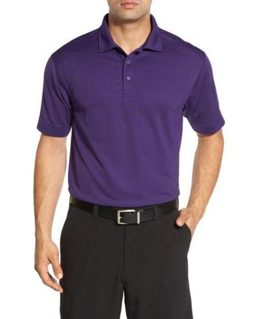 Cutter & Buck - Purple 'genre' Drytec Moisture Wicking Polo for Men - Lyst