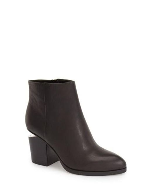 Alexander Wang - Metallic Gabi Leather Silver-Cutout Ankle Boots - Lyst