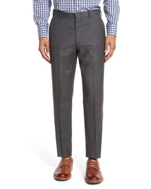 J.Crew | Blue J.crew Ludlow Flat Front Solid Wool Trousers for Men | Lyst
