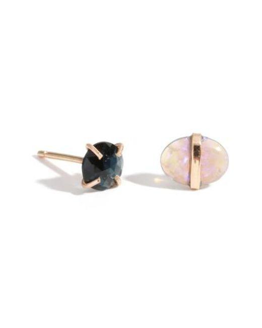Melissa Joy Manning - Metallic Mismatched Stone Stud Earrings - Lyst