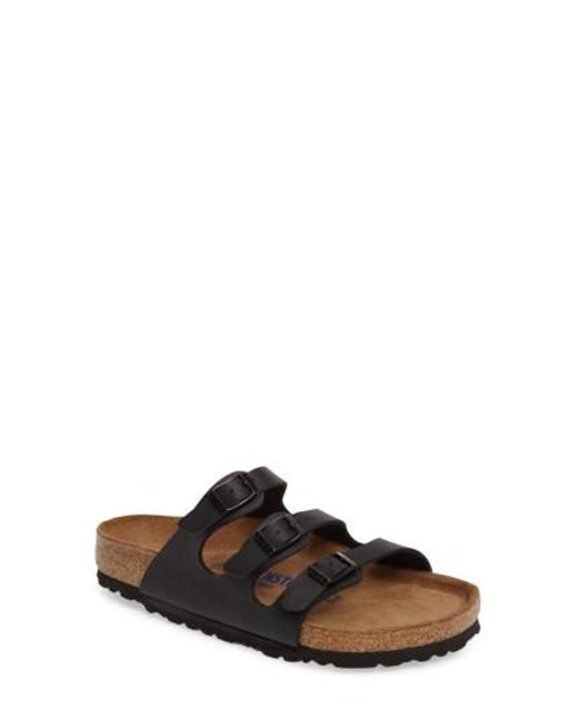 Birkenstock | Black Florida Soft Footbed Slide Sandal for Men | Lyst
