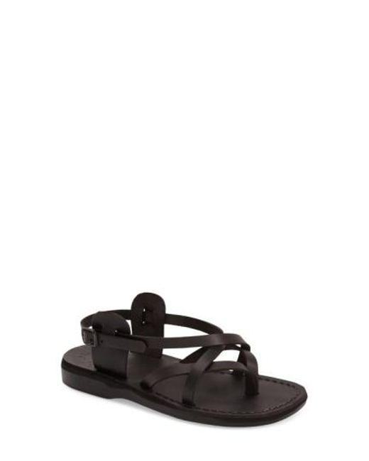 Jerusalem Sandals - Black Tamar Leather Sandals  - Lyst