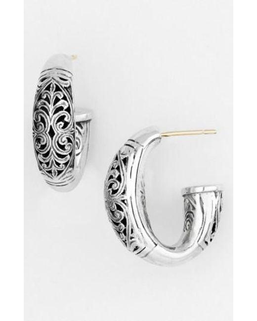 Konstantino - Metallic 'classics - Daphne' Hoop Earrings - Lyst
