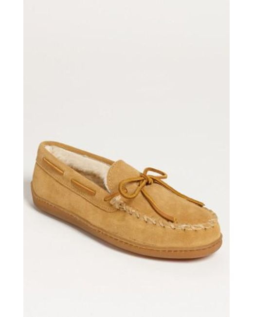 Minnetonka - Brown Suede Moccasin for Men - Lyst