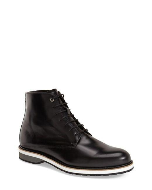 Want Les Essentiels De La Vie | Black De La Vie 'montoro' Plain Toe Boot for Men | Lyst