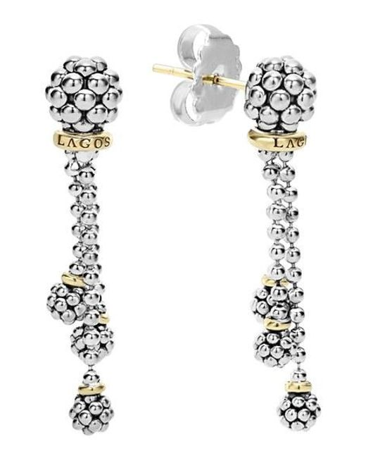 Lagos | Metallic 'caviar Forever' Tassel Drop Earrings | Lyst